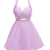 Spaghetti Straps Homecoming Dress