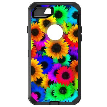DistinctInk™ OtterBox Defender Series Case for Apple iPhone / Samsung Galaxy / Google Pixel - Red Green Yellow Sunflowers