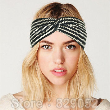 Boho Bow Knot Headbands for Women Elastic Flower Turban Headband Yoga Sport Headwrap Hairband Headwear Girls Hair Accessories