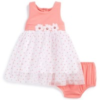 Infant Girl's Little Me Polka Dot Tulle Dress & Bloomers