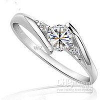 Silver White gold Swiss Diamond Rings