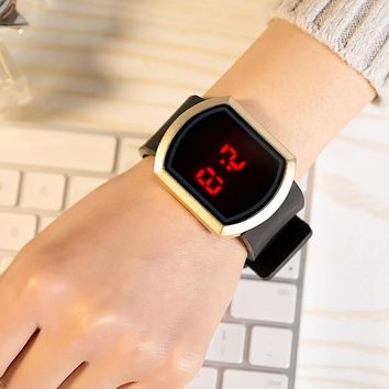 FUNIQUE Fashion Digital Watch Women Men LED Sport Wristwatches Montre Homme FemmeTouch Screen Simple Casual Silicone Clock