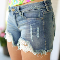 Peek of Lace Shorts