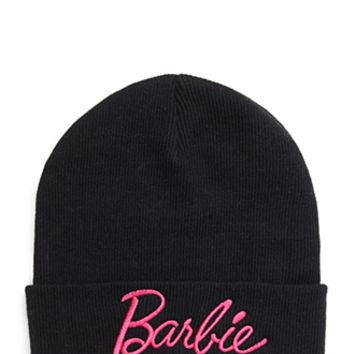 FOREVER 21 Fold-Over Barbie Beanie Black One