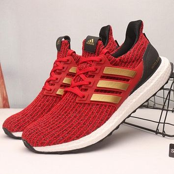 Game Of Thrones x Adidas Ultra Boost 4.0 House Lannister Sport Running Shoes