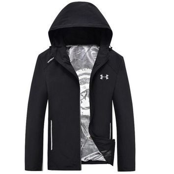DCCKHI2 Under Armour Fashion Men Long Sleece Sweater Shirt Black Coat Tagre-