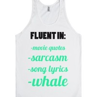 Fluent In-Unisex White Tank