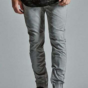 Bullhead Denim Co. Solid Zip Slouched Skinny Jogger Pants - Mens Pants