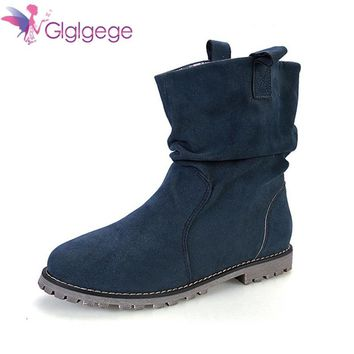 Glglgege New Arrival Autumn Winter Girl Soft bottom Booties Fash 7d1947ea02b0