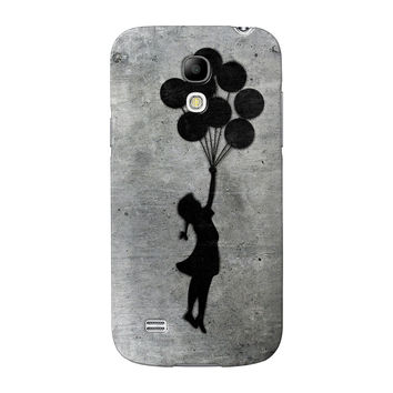 Banksy Balloon Girl Full Wrap High Quality 3D Printed Case for Samsung Galaxy S4 Mini by Banksy