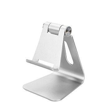Mribo Adjustable Cell Phone Stand Tablet Stand Switch Holder .Silver
