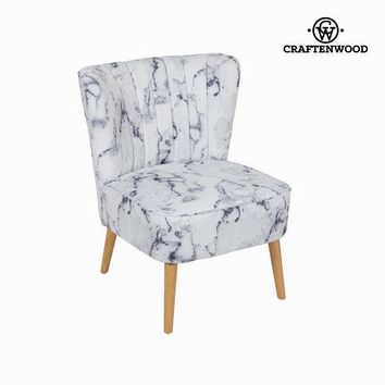 Wingback chair marble by Craften Wood