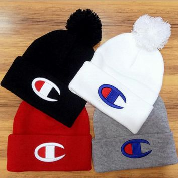 Warm Champion Hip Hop Women Men Beanies Winter Knit Hat Cap