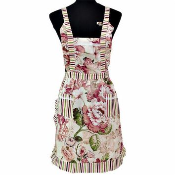 DCCKL72 Bib Cooking Aprons With Pocket Women Lady Restaurant Home Kitchen quality first