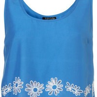 Daisy Cut Out Crop Vest - Tops - Apparel - Topshop USA