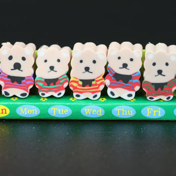 Seven Days of Bears in Sweaters Eraser
