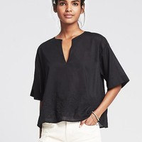 Banana Republic Womens Embroidered Tunic