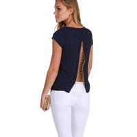 Navy Love Chain Blouse