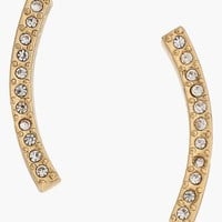Women's Rebecca Minkoff 'Safari Haze' Pave Bar Ear Climbers