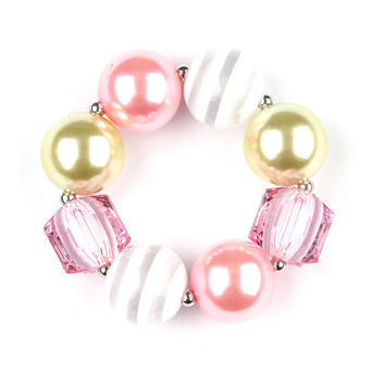 Bubblegum Beaded Chunky Bracelet