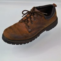 SKECHERS 6618 Tom Cats Brown Lace-Up Utility Shoes Work Oxfords Mens Size 10