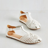 Americana Weave Only Just Begun Sandal in Cloud by ModCloth