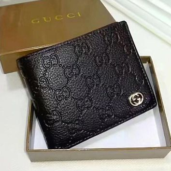 DCCK3 GUCCI Men Fashion Leather Purse Wallet2