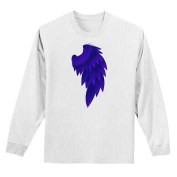 Single Right Dark Angel Wing Design - Couples Adult Long Sleeve Shirt