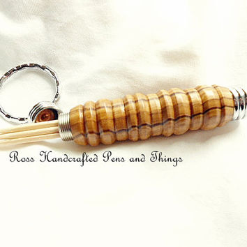 Handcrafted Compartment Keychain, Gift For Men, Gift For Women, Hand Turned, Handcrafted