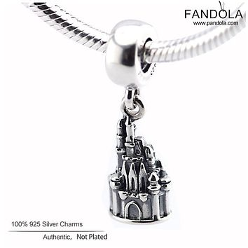 DIY Fits For Pandora Bracelets Walt World Cinderella Castle Charms 100% 925 Sterling Silver Beads Fashion Jewelry Free Shipping