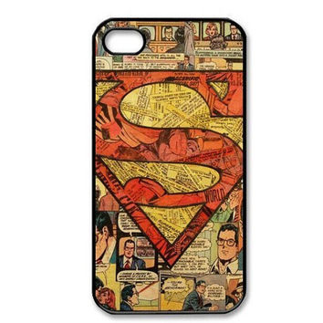 Superman Superhero Comic Book Vintage DC Comics case for iPhone 6