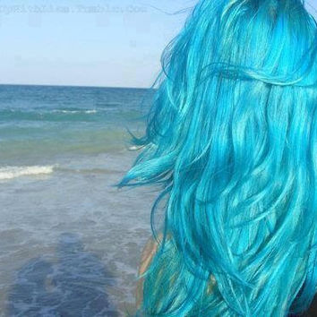 Lake Blue Turquoise Mermaid Hair Chalk - Hair Chalking Pastels - Temporary Hair Color - Salon Grade - 1 Large Stick