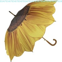 Galleria Sunflower Bloom Stick Umbrella:Amazon:Clothing