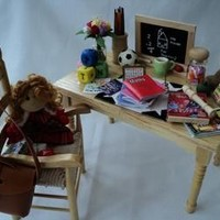 DOLLS HOUSE MINIATURES - School Teachers Table
