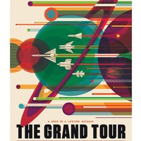 """The Grand Tour - A Voyage of a Lifetime - NASA JPL Space Tourism Travel Poster - Unframed (24"""" x 36"""")"""