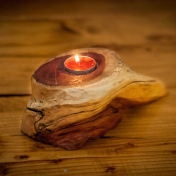 Tea Light Holder rustic candle holder wooden candle holder Wedding Center Piece Rustic centerpiece cottage chic country living style
