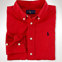 Ralph Lauren Childrenswear 2T-7 Barrel-Cuff Chino Shirt - Polo Black