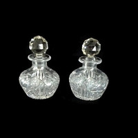 Perfume Bottles, Cut Crystal Bottle, Art Deco Perfume Bottle