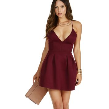 Little Burgundy Skater Dress