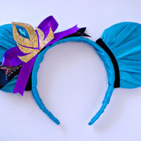 Frozen Elsa Coronation Gown Inspired Mickey Mouse Ear Headband