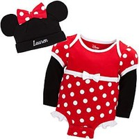 Minnie Mouse Disney Cuddly Bodysuit Set for Baby - Personalizable | Disney Store