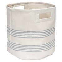 Natural Canvas Tote, Lines, Storage Boxes & Bins