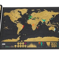 Art World Map Deluxe Scratch