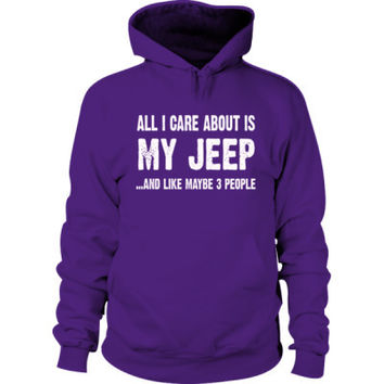 All i Care About Is My Jeep Hoodie