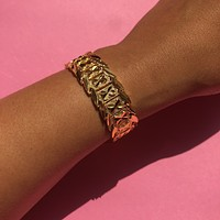 The Golden Flower Bracelet