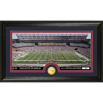 New England Patriots inStadiumin Bronze Coin Panoramic Photo Mint