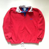 Lacoste Half Zip Pullover - Women's Red Izod Lacoste Half Zip Sweater