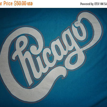 New Year Sale Vintage CHICAGO 1986-1987 Tour T Shirt Original Rock Concert Tee