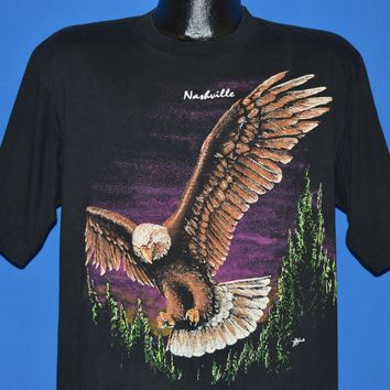 90s Nashville Flying Bald Eagle Wrap Around t-shirt Large