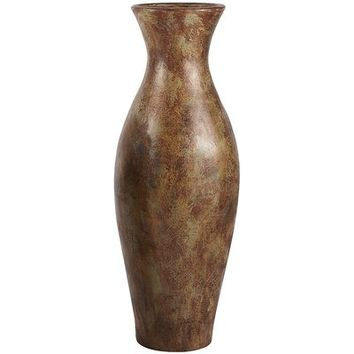 Distressed Copper Floor Vase